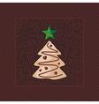 Gingerbread Christmas Tree vector image
