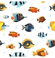 Underwater life with cute cartoon fishes vector image