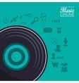 Vinyl and music online design vector image