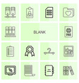 14 blank icons vector image vector image