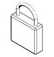 3d model of the padlock on a white vector image vector image