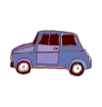 A vehicle is parked vector image vector image