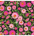 abstract pink seamless spring floral ornament on vector image