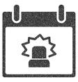 Alert Calendar Day Grainy Texture Icon vector image vector image