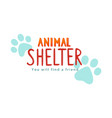 animal shelter concept showing vector image vector image