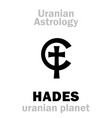 astrology hades uranian planet vector image vector image