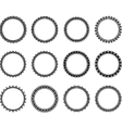 Black and white nice circle vector image