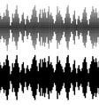 black square sound wave patterns vector image vector image