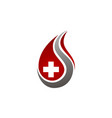 blood with cross health vector image