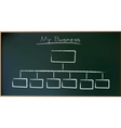 Business Plan on Schoolboard in vector image vector image