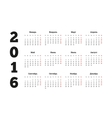 Calendar for 2016 year on russian language A4 vector image vector image