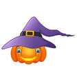 cartoon cute pumpkin witch vector image