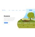 city eco zone landing page urban vector image