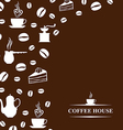 coffee background brown vector image vector image