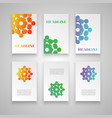 colorful template set for different usage vector image vector image