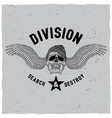 division search and destroy poster vector image