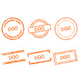 dog stamps vector image