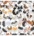 dogs with respirator pattern vector image vector image