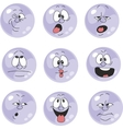 Emotion smiles violet color set 007 vector image vector image
