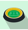 Football round stadium flat icon vector image vector image