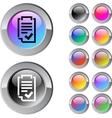 Form multicolor round button vector image