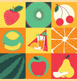 fruit pattern seamless fruity background vector image vector image