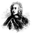general james edward oglethorpe vintage vector image vector image