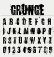 grunge fonts vector image
