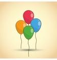 Happy birthday icon design vector image vector image