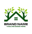 home logo with trees vector image vector image