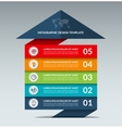 Infographic arrow design template with 5 options vector image