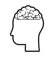 isolated brain and head design vector image vector image