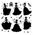 little princess silhouettes vector image