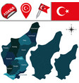 map of adana turkey with districts vector image vector image