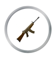 Military assault rifle icon in cartoon style vector image vector image