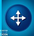 move arrows vector image vector image