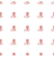 mp player on hand icon pattern seamless white vector image vector image