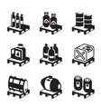 Oil gas and chemical products vector image