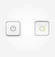 On Off Power buttons vector image vector image