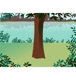 Park Landscape scene vector image vector image