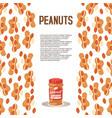 peanut butter plastic jar poster vector image vector image