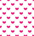 Pink Seamless Pattern with Hearts for Valentines vector image