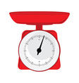 Red weight scale vector image vector image