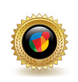 reddcoin cryptocurrency coin gold badge vector image vector image