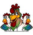 rooster champion vector image vector image