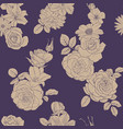 seamless pattern with drawing flowers vector image vector image