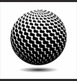set abstract halftone 3d spheres 20 vector image vector image