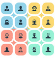 set of simple avatar icons vector image vector image