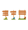 set of wooden sign vector image vector image