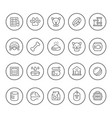 set round line icons pet vector image